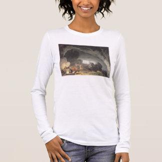 Peaks Hole, Derbyshire (colour engraving) Long Sleeve T-Shirt