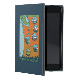 Peaks of the Northwest - 5 Different Mountains Case For iPad Mini