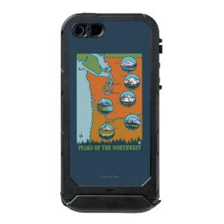 Peaks of the Northwest - 5 Different Mountains Incipio ATLAS ID™ iPhone 5 Case