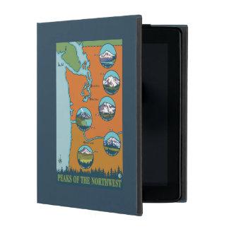 Peaks of the Northwest - 5 Different Mountains iPad Folio Case