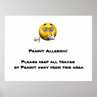 Peanut Allergic Poster