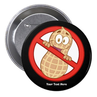 Peanut Allergy 2 (customizable) 7.5 Cm Round Badge