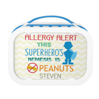 Peanut Allergy Alert Superhero Boys Lunchbox
