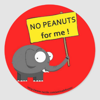 Peanut Allergy Classic Round Sticker
