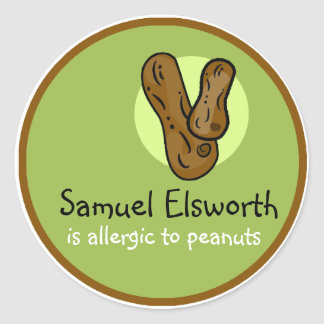 Peanut Allergy Customisable Sticker