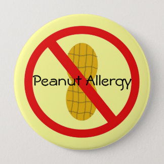 Peanut Allergy Pin in yellow