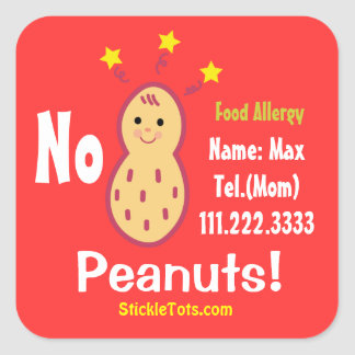 Peanut Allergy Sticker / Customize