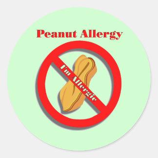 Peanut Allergy Sticker I m Allergic in Green
