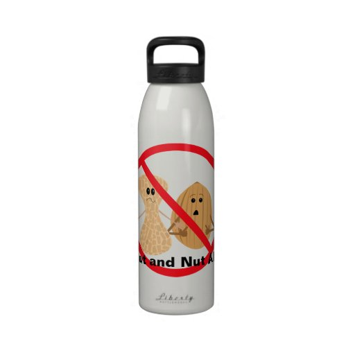 Peanut and Nut Allergy Liberty Bottle Water Bottle