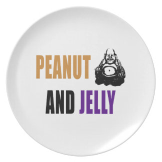 Peanut Buddha & Jelly Dinner Plate