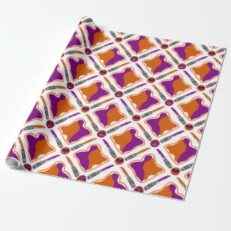 Peanut Butter and Grape Jelly Seamless Pattern Wrapping Paper