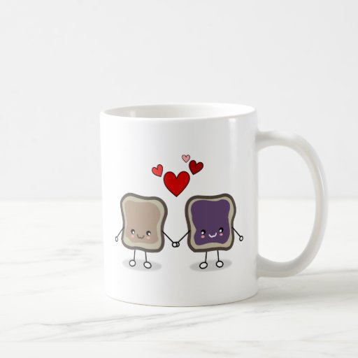 Peanut Butter and Jelly Basic White Mug