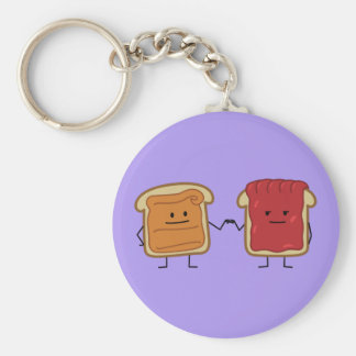 Peanut Butter and Jelly Fist Bump Basic Round Button Key Ring