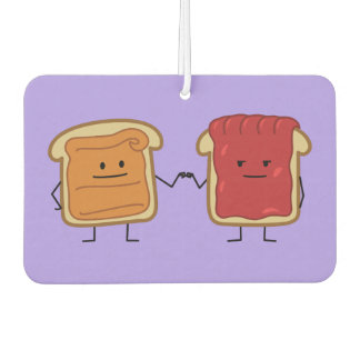 Peanut Butter and Jelly Fist Bump friends toast Car Air Freshener