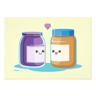 Peanut Butter and Jelly Personalized Invitations