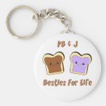 Peanut Butter and Jelly Basic Round Button Key Ring
