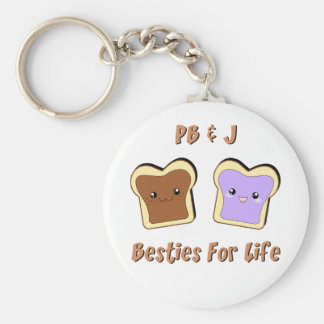 Peanut Butter and Jelly Key Ring