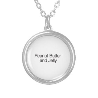 Peanut Butter and Jelly Round Pendant Necklace