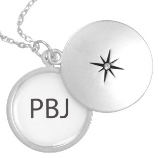 Peanut Butter and Jelly -or- Pretty Boy Jock.ai Round Locket Necklace