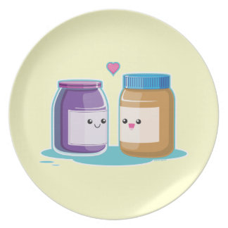 Peanut Butter and Jelly Plates