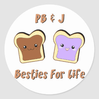 Peanut Butter and Jelly Round Sticker
