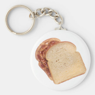 Peanut Butter and Jelly Sandwich Key Ring