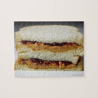Peanut butter and jelly sandwich. puzzles
