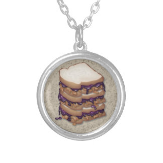Peanut Butter and Jelly Sandwiches Custom Necklace