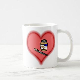 peanut butter basic white mug