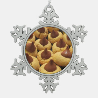Peanut Butter Chocolate Drop Cookies Snowflake Pewter Christmas Ornament