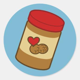 Peanut Butter Classic Round Sticker