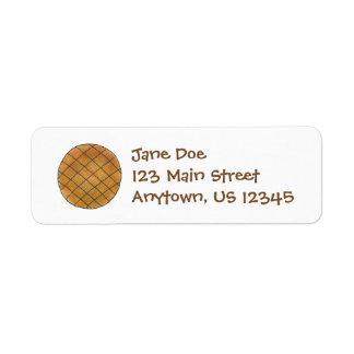Peanut Butter Cookie Return Address Labels