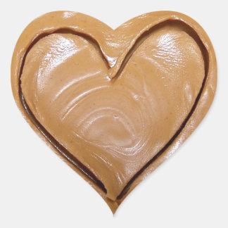 Peanut Butter Heart Heart Sticker