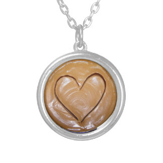 Peanut Butter Heart Necklaces