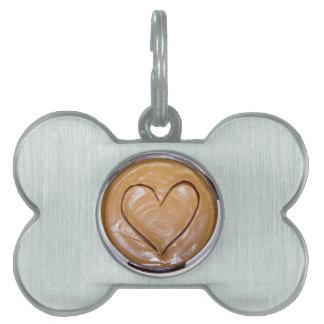 Peanut Butter Heart Pet ID Tag