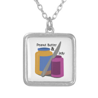 PEANUT BUTTER & JElLLY Square Pendant Necklace