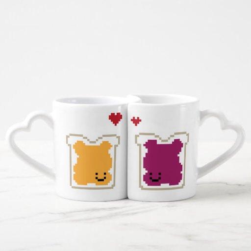 Peanut Butter Jelly Couple Mugs