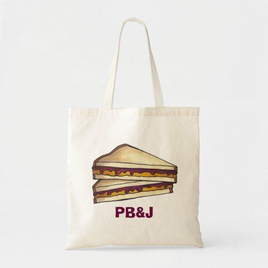 Peanut Butter Jelly PBJ Sandwich School Lunch Bag