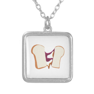 Peanut Butter Jelly Sandwich Personalized Necklace