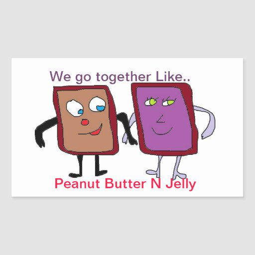 Peanut Butter Jelly Stickers