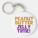 Peanut Butter Jelly Time Basic Round Button Key Ring