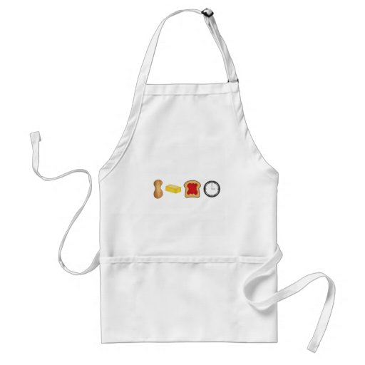 Peanut Butter Jelly Time Horizontal Aprons