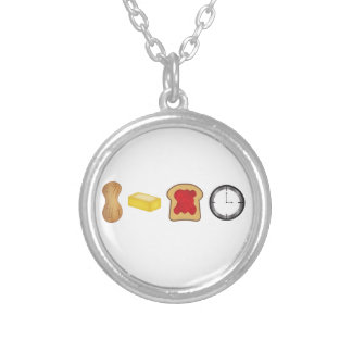 Peanut Butter Jelly Time Horizontal Necklace