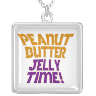 Peanut butter jelly time necklaces
