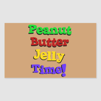 Peanut Butter Jelly Time Stickers