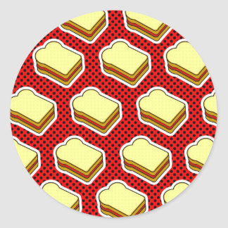 Peanut Butter Jelly Time - Strawberry Jelly Round Sticker