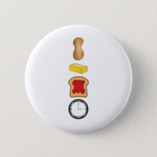 Peanut Butter Jelly Time Vertical 6 Cm Round Badge