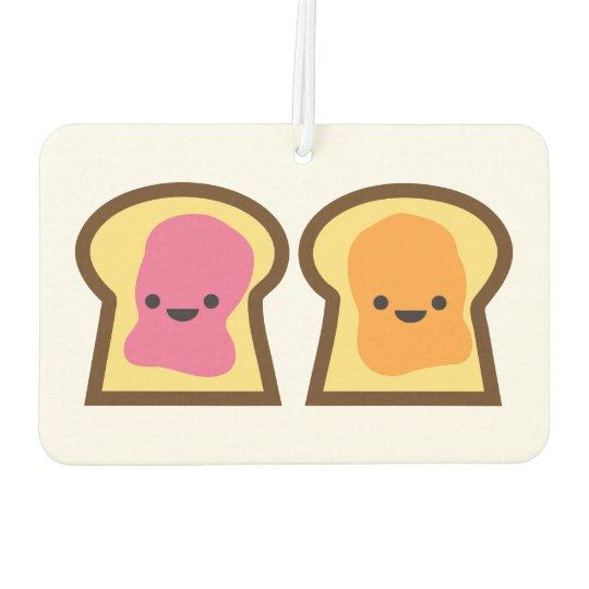 Peanut Butter & Jelly Toast Car Air Freshener