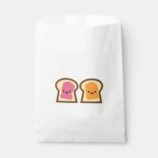 Peanut Butter & Jelly Toast Friends Favor Bag Favour Bags