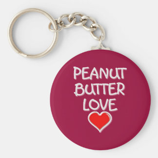 Peanut Butter Love Basic Round Button Key Ring